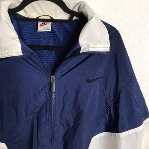 Vintage Nike Navy Wind Breaker Rain Coat Size L
